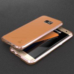Blade Sword Aluminum Metal Bumper For Samsung Galaxy S7 Edge - Rose Gold