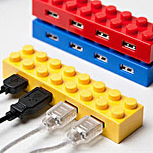 4 Port Block Type High Speed USB 2.0 Hub –Yellow