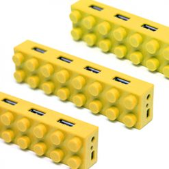 4 Port Block Type High Speed USB 2.0 Hub –Yellow