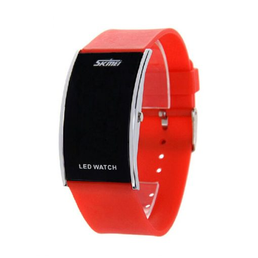 30M Waterproof Blue Light LED Watch - Red