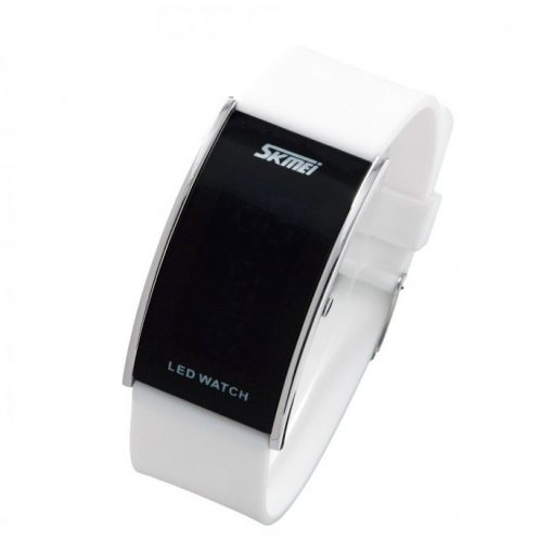 30M Waterproof Blue Light LED Watch - White