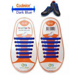 No Tie Silicone Shoelaces Size For Children - Dark Blue