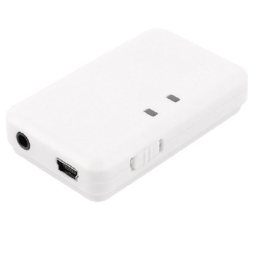 Bluetooth Receiver with 3.5mm Pin Interface - White