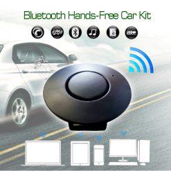 Bluetooth To Car FM Transmitter Hands Free Car Kit - Black