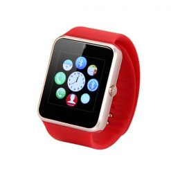 Bluetooth Smart Watch With SIM Card Slot - Red/Silver