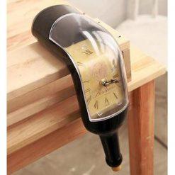 Bottle Design Melting Quartz Clock - Brown