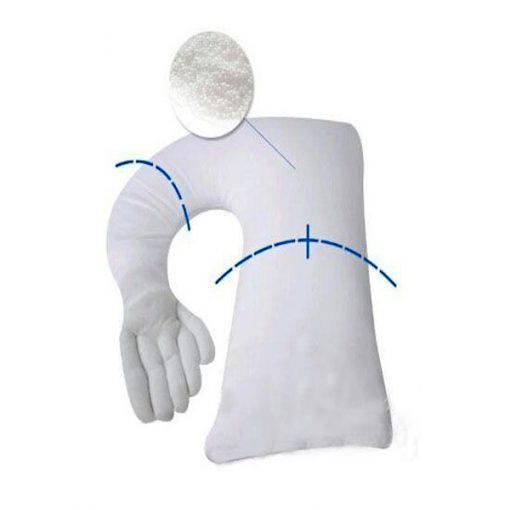 Boyfriend Pillow with Plain Long Sleeve - Sky Blue