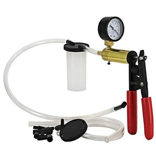 Portable Brake Bleeder & Vacuun Pump Kit - Red