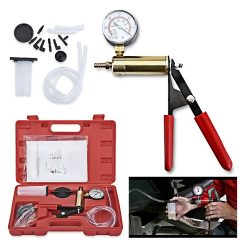 Portable Brake Bleeder & Vacuun Pump Kit - Red