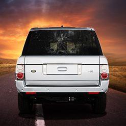 High Beam Broken Windshield Car Tint Rear Window Sticker DT12 - Black