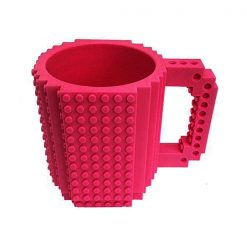 Build-On Brick Mug Style Puzzle Cup - Peach