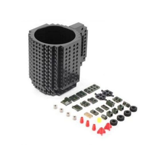 Build-On Brick Mug Style Puzzle Cup - Black