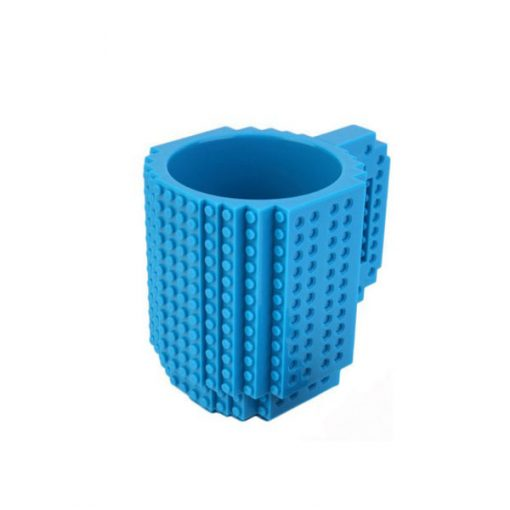Build-On Brick Mug Style Puzzle Cup - Blue