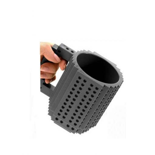 Build-On Brick Mug Style Puzzle Cup - Gray