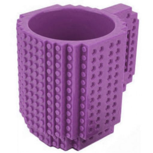 Build-On Brick Mug Style Puzzle Cup - Purple