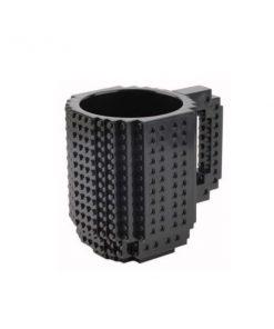 Build-On Brick Mug Style Puzzle Cup - Black