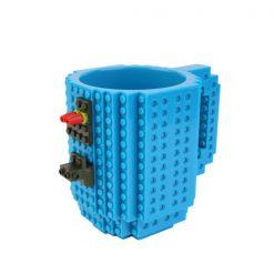 Build-On Brick Mug Style Puzzle Cup - Blue