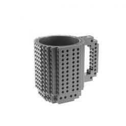 Build-On Brick Mug Style Puzzle Cup - Gray