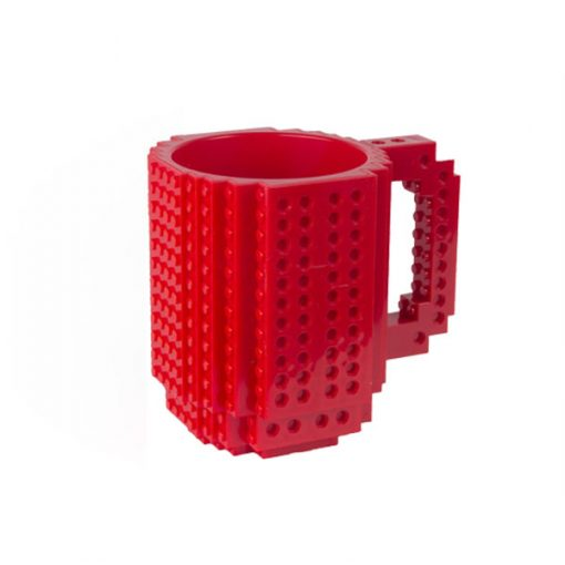 Build-On Brick Mug Style Puzzle Cup - Red