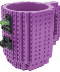 Build-On Brick Mug Style Puzzle Cup - Purple