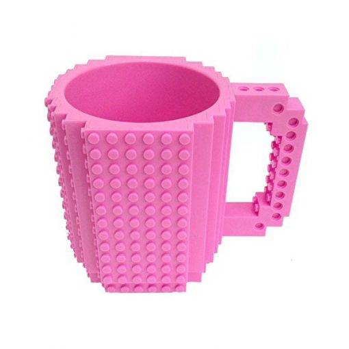Build-On Brick Mug Style Puzzle Cup - Pink