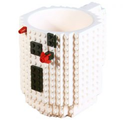 Build-On Brick Mug Style Puzzle Cup - White