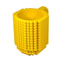 Build-On Brick Mug Style Puzzle Cup - Yellow