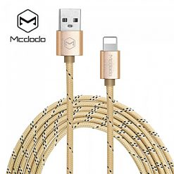 Mcdodo MFI Certified M-Woven Fabric Lightning Data Cable - Gold