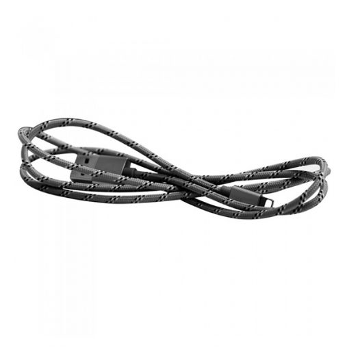 Mcdodo MFI Certified M-Woven Fabric Lightning Data Cable - Silver