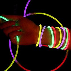 100 Pieces Assorted Neon Glow In the Dark Bracelet