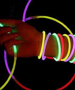 100 Pieces Assorted Neon Glow In the Dark Bracelet