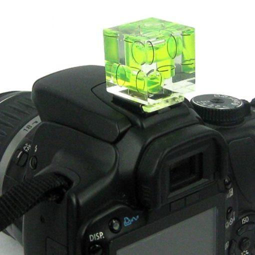 Camera Levelling Tool  3 Axis Bubble Hotshoe Spirit Level on Camera
