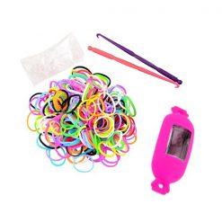 Candy Style Loom Watch Bracelet - Pink