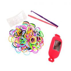 Candy Style Loom Watch Bracelet - Red