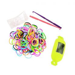 Candy Style Loom Watch Bracelet - Yellow