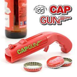 Cap Gun Beer Bottle Opener Launcher Shooter - Red
