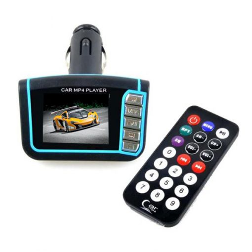 Car Mp4 Player With FM Modulator - Blue