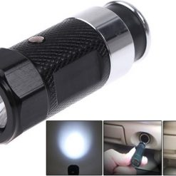 Car Cigarette Rechargeable LED Flashlight