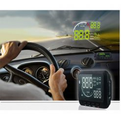 Car HUD Vehicle Mounted Head Up Display System OBD II - Black