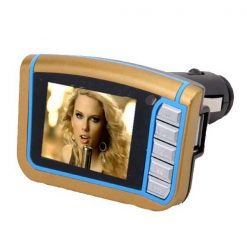 Car MP4 Player with FM Transmitter - Gold