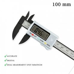 100 mm Carbon Fiber Composite Digital Caliper - Silver