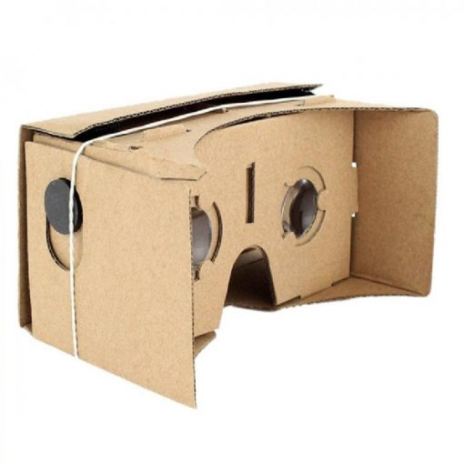 """Cardboard Reality Mobile Phone 3D Viewing Glasses 5.0"""" Screen For Watching Movie"""