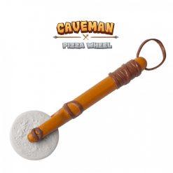 Caveman Pizza Wheel Cutter - Brown