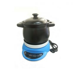 Ceramic Casserole Pot Electric Slow Cooker - Black/Blue