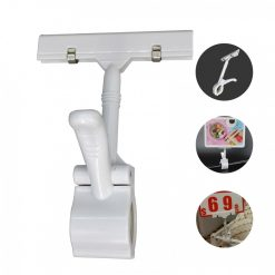 5 Piece Clamp Tag Holder Clip - White