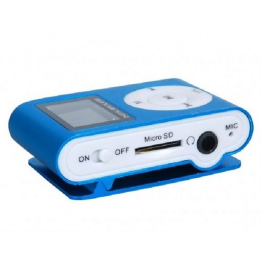 Clip mp3 Player with LCD - Blue