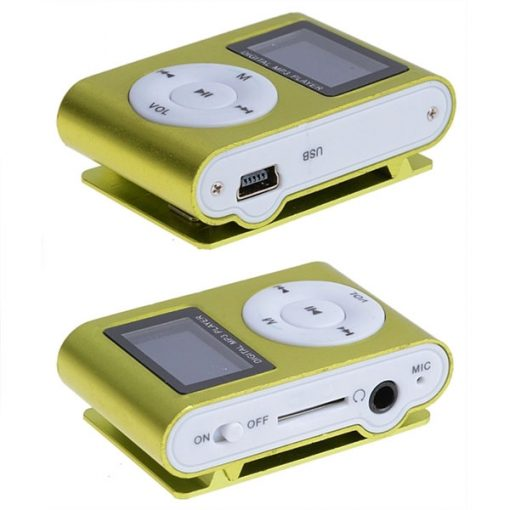 Clip mp3 Player with LCD - Green