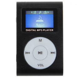 Clip mp3 Player with LCD- Black
