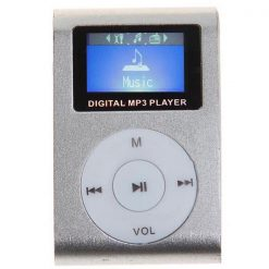 Clip mp3 Player with LCD - Gray