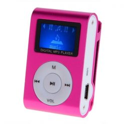 Clip mp3 Player with LCD - Pink